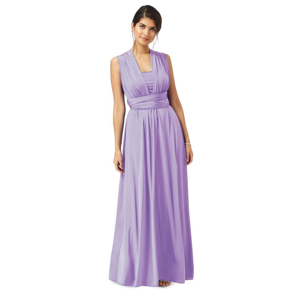 Debut Womens Purple Multiway Full Length Evening Dress From ...