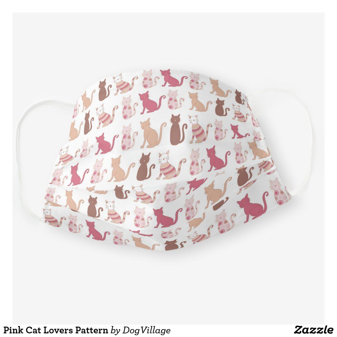 Photo of Pink Cat Lovers Pattern Cloth Face Mask | Zazzle.com