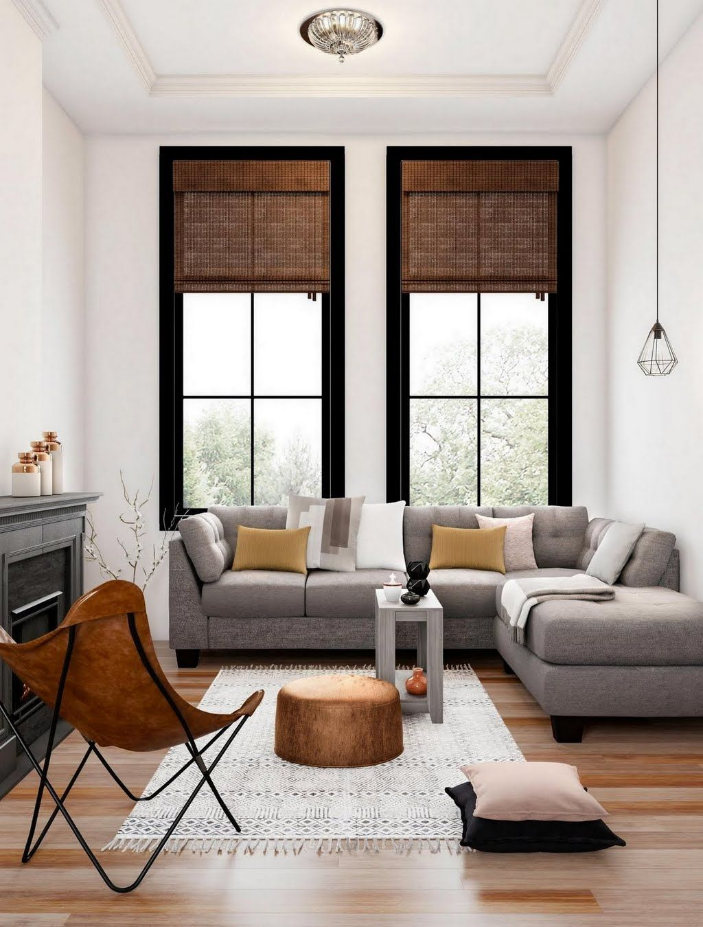 Modern Gray And Espresso Living Room Living Room The Home Depot Living Room Grey Living Room Sets Living Room Style
