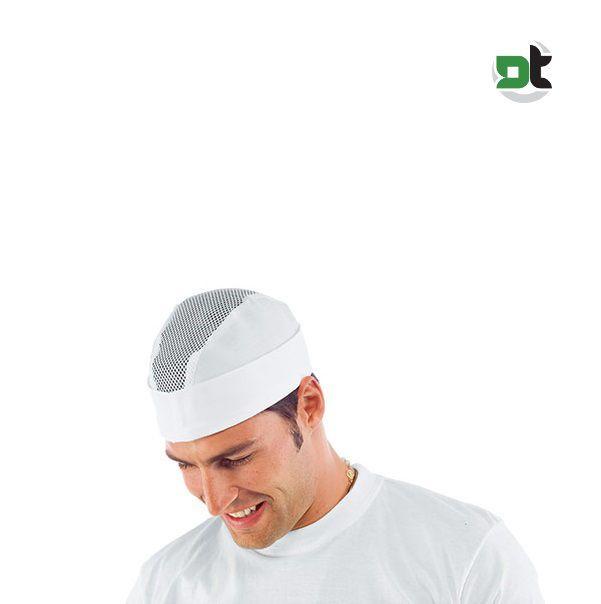 CAPPELLO BUSTINA CON RETE ISACCO CON ELASTICO pizzaiolo cucina cuoco  copricapo c 6c555e551101