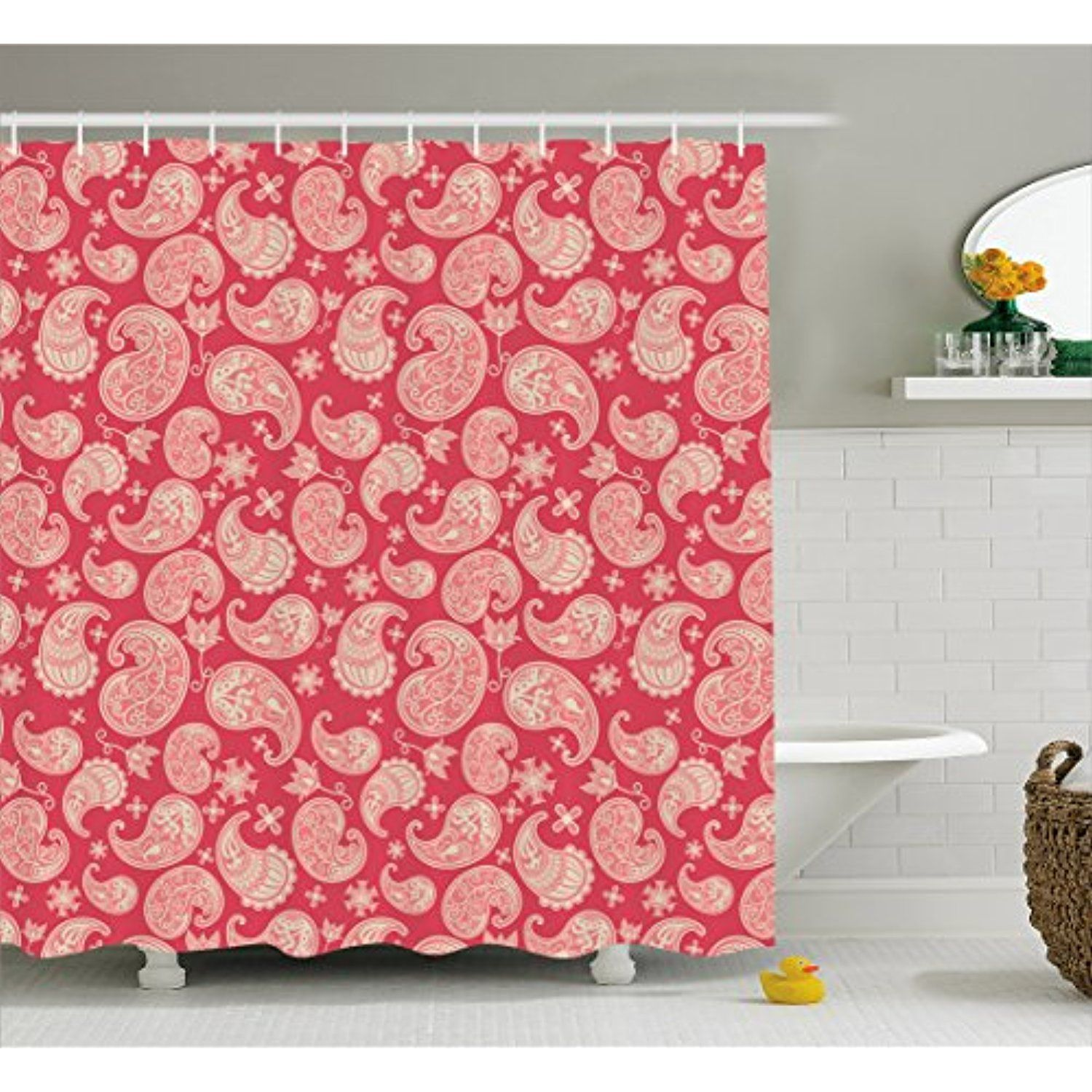 Paisley Shower Curtain By Lunarable Valentines Day Inspired Image