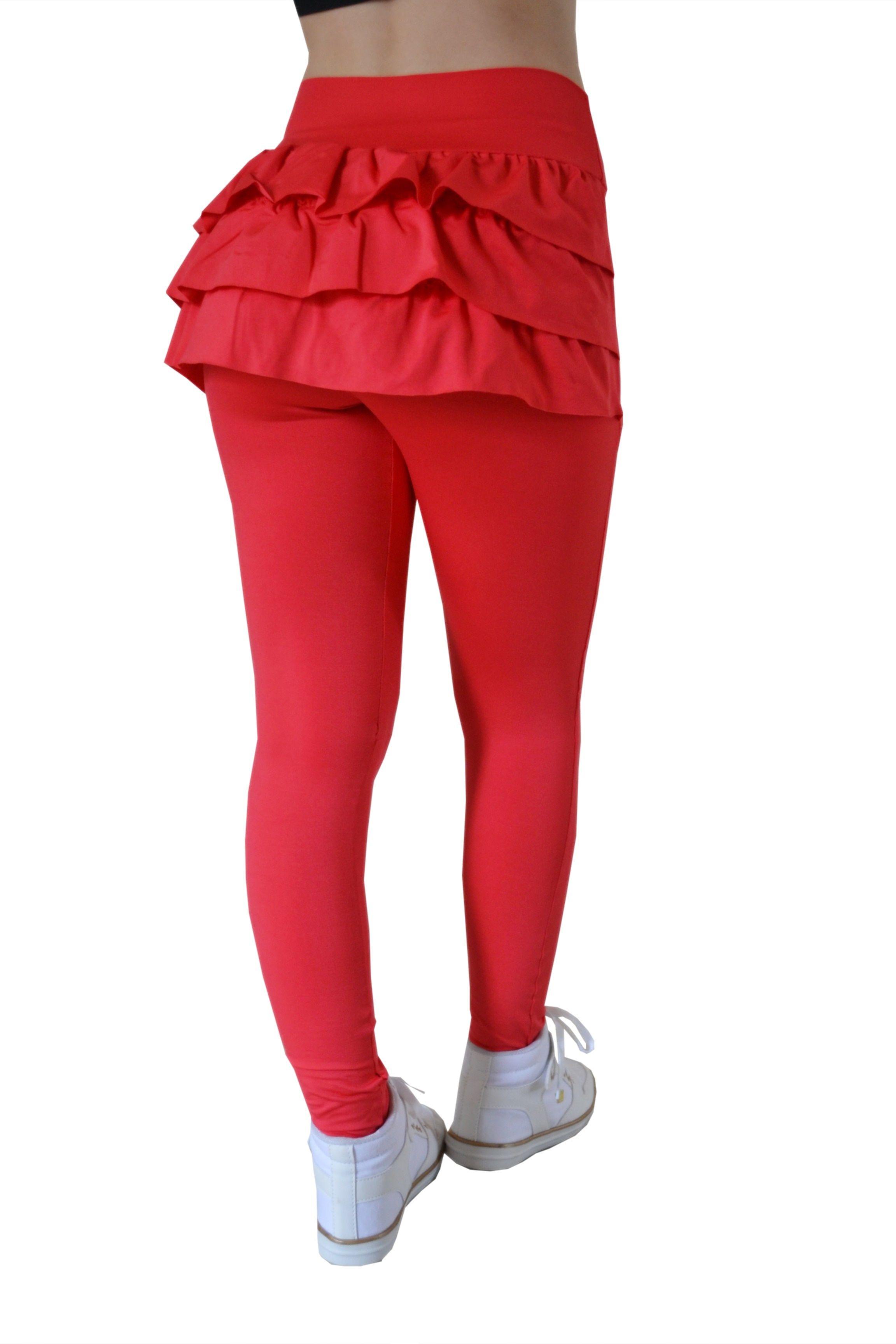 ad155f4264 Legging Fitness para academia - Valentinas Fit - Legging com babados -  Legging com saia - Calça Legging Fitness c Tapa Bumbum de Babados - Coral -  Tapa ...