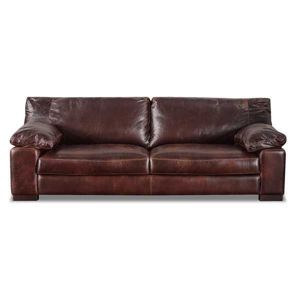 Luxurious Barcelona Italian All Full Grain Leather Sofa By Soft Line Brown And Padded Arms Provide Comfort With A Relaxing Look For Your Home