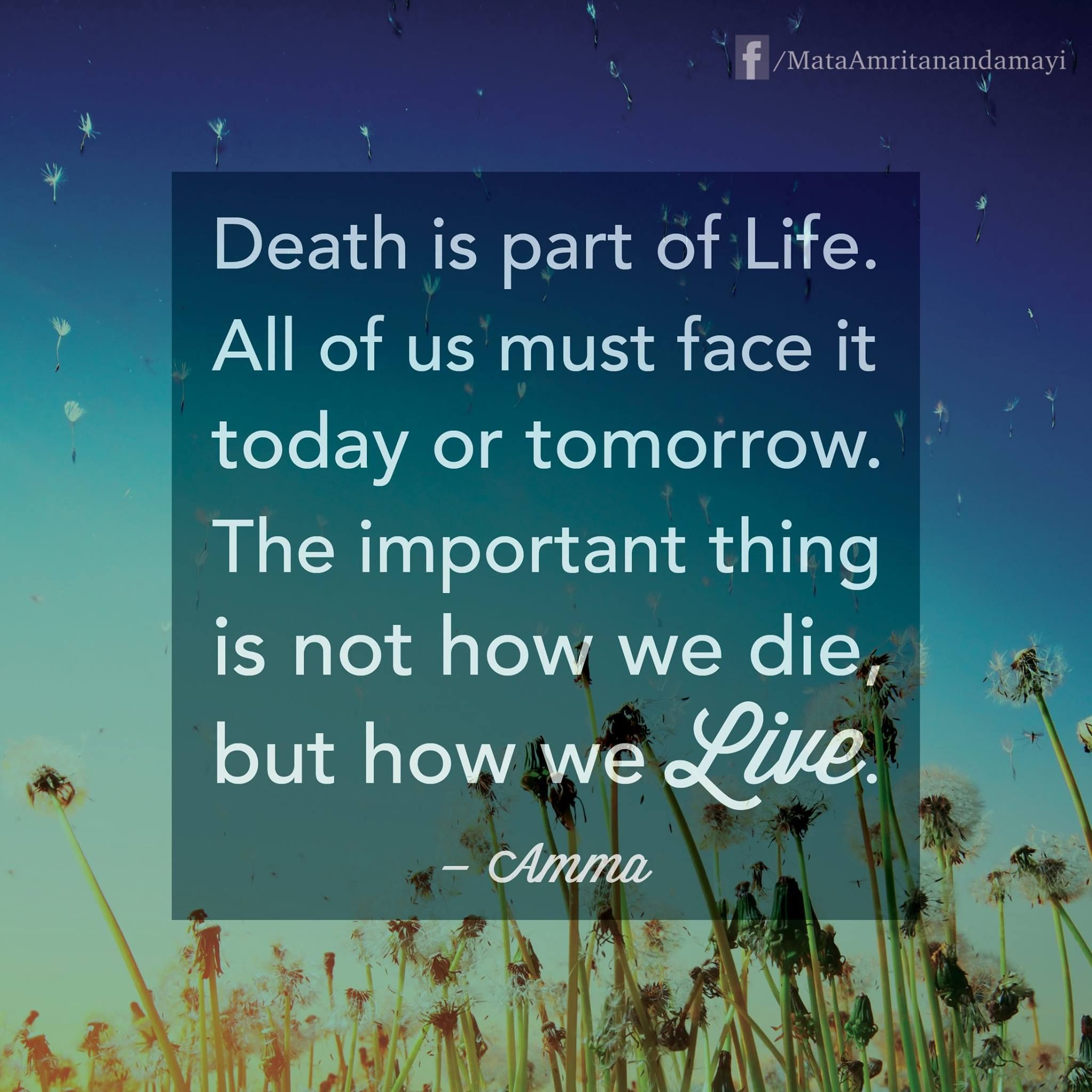 Quotes About Life And Death Death Is Part Of Lifeall Of Us Must Face It Today Or Tomorrow