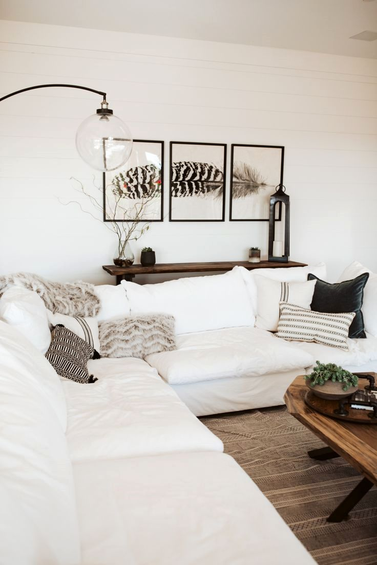 Coastal Farmhouse Living Room Reveal With Arhaus images