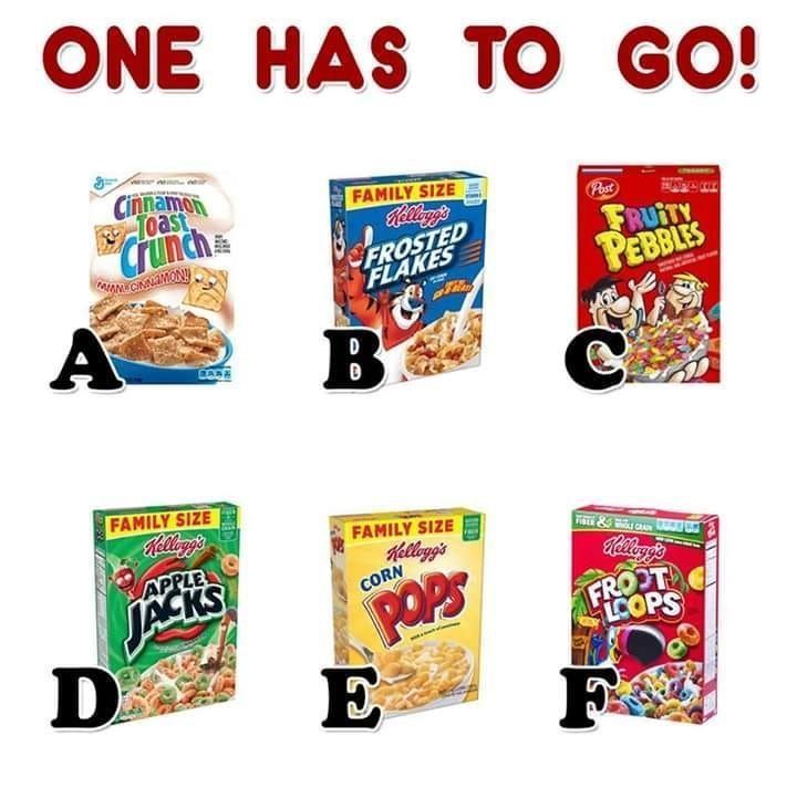 Which One Would You Choose? #cereal #sugar