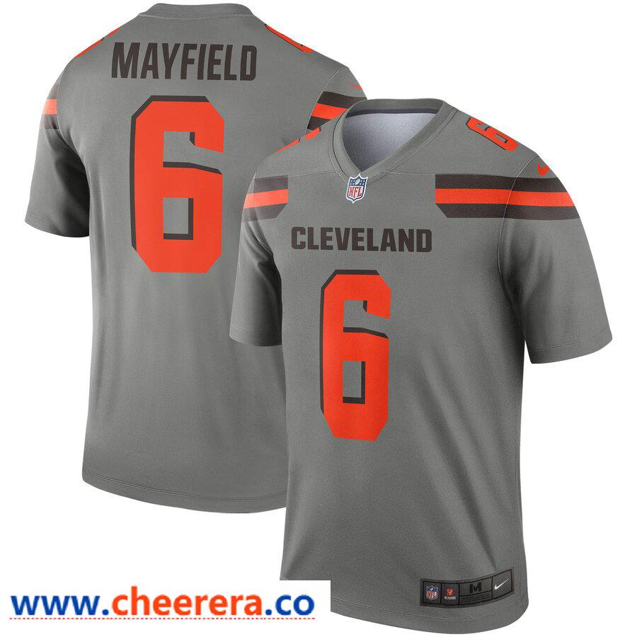 Nike Men's Cleveland Browns 6 Baker Mayfield Gray