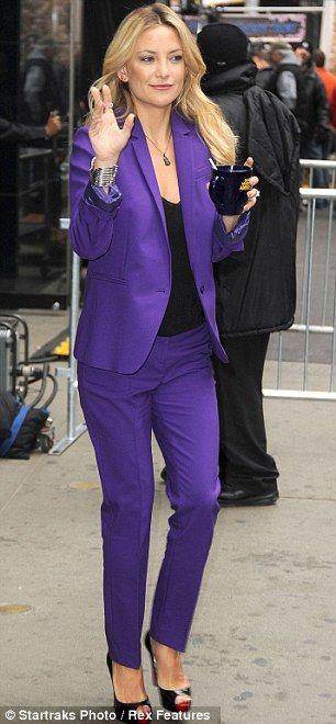 Kate Hudson Insists Matt Bellamy Wedding WILL Happen As She Steps Out In Stunning Indigo Trouser Suit