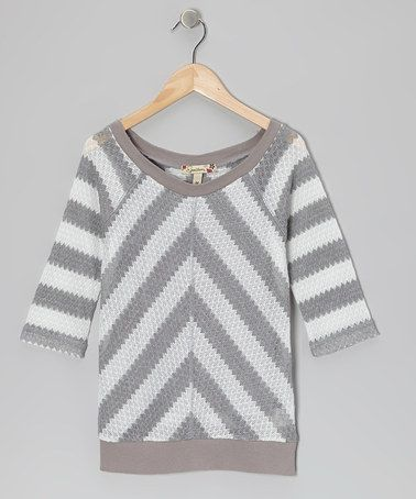 http://www.zulily.com/invite/vhanson979 Take a look at this Gray & White Chevron Top by Speechless on #zulily today!