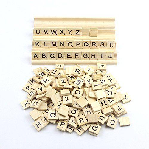 scrabble + rack name tag