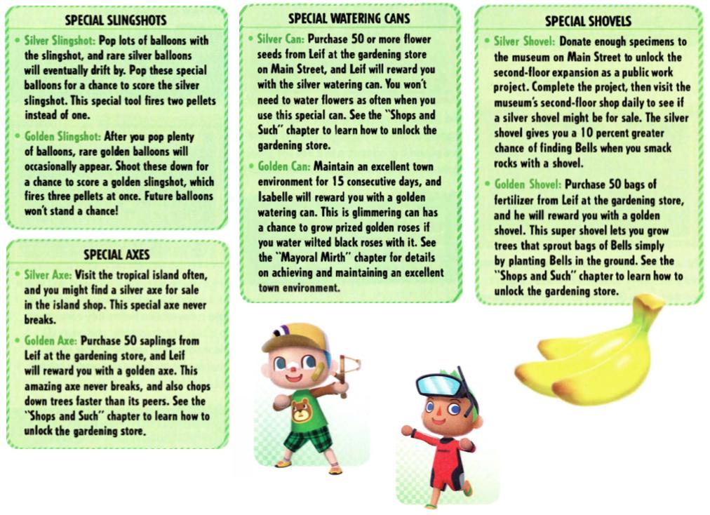 8e4d8aae99169d33b2e4b61ba4295ce8 - How To Get Golden Tools In Animal Crossing New Leaf