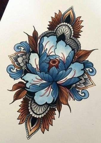 Photo of Tatouage fleur design croquis néo traditionnel 21+ idées