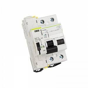LEDKIA Interrupteur Différentiel Réarmable Compact 2P-300mA-10kA 63 A