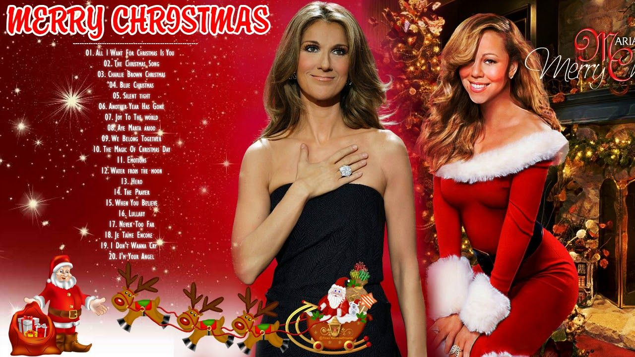 Best Christmas Songs By Mariah Carey Celine Dion Top Christmas Songs Best Christmas Songs Xmas Songs Strapless Dress Formal