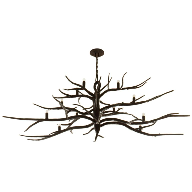 Iron Branch Chandelier From A Unique Collection Of Antique And Modern Chandeliers Pendants At