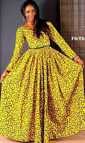Mode robe longue en pagne