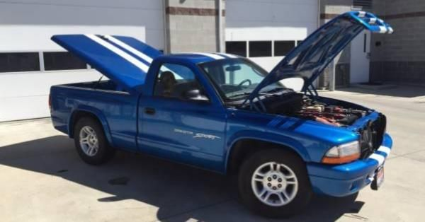 Someone Dropped A Viper V10 Into This Innocent Dodge Dakota Dodge Dakota Dakota Sports Dodge