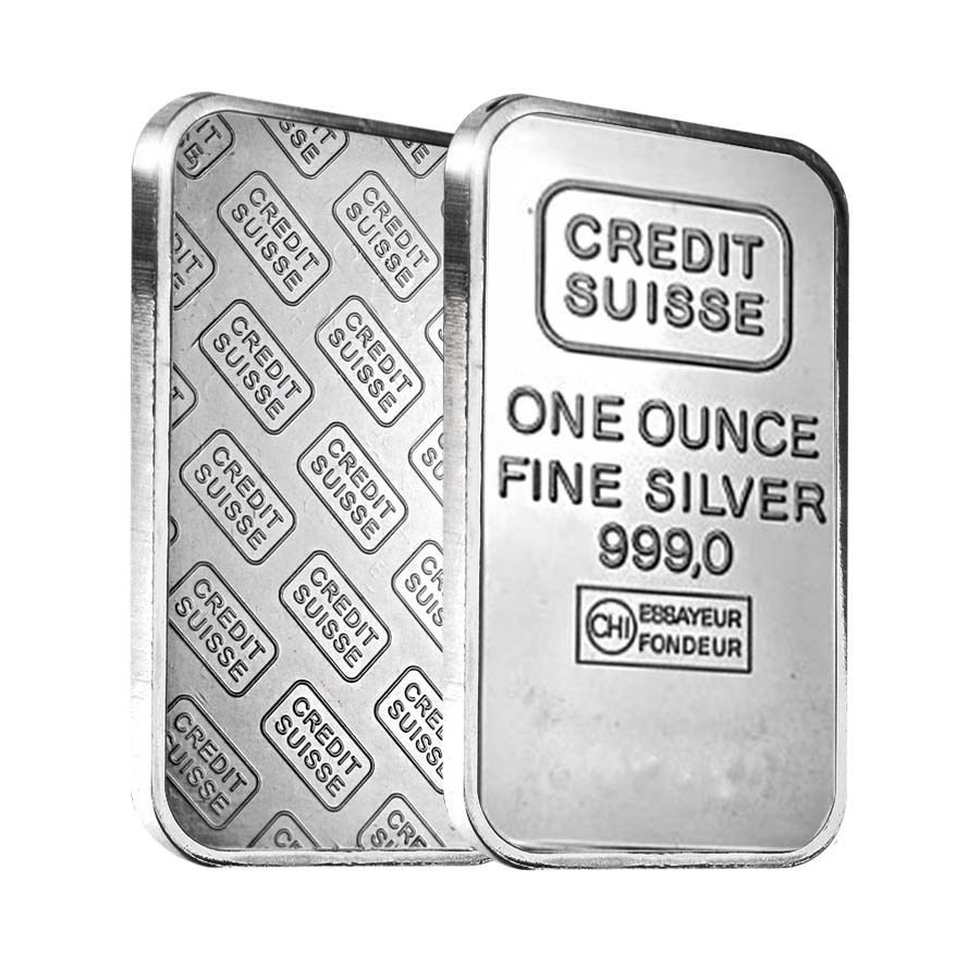 1 Oz Credit Suisse Silver Bar 999 Fine Secondary Market Sealed Silver Bars Credit Suisse Silver