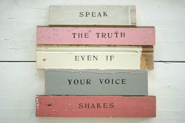 wood & word signs