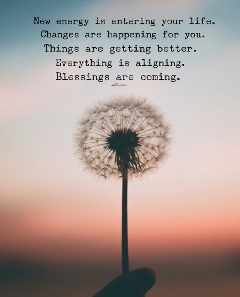 Blessings are coming