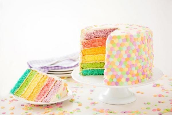 تورتة قوس قزح من منال العالم Rainbow Cake By Manal Alalem Pastel Cakes Easter Dessert Easter Desserts Recipes