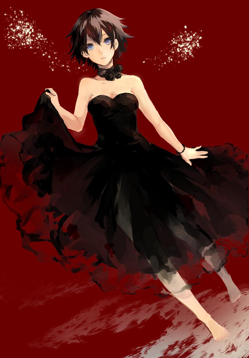 Anime Black Dress : anime, black, dress, ANIME, IlLUSTRATION