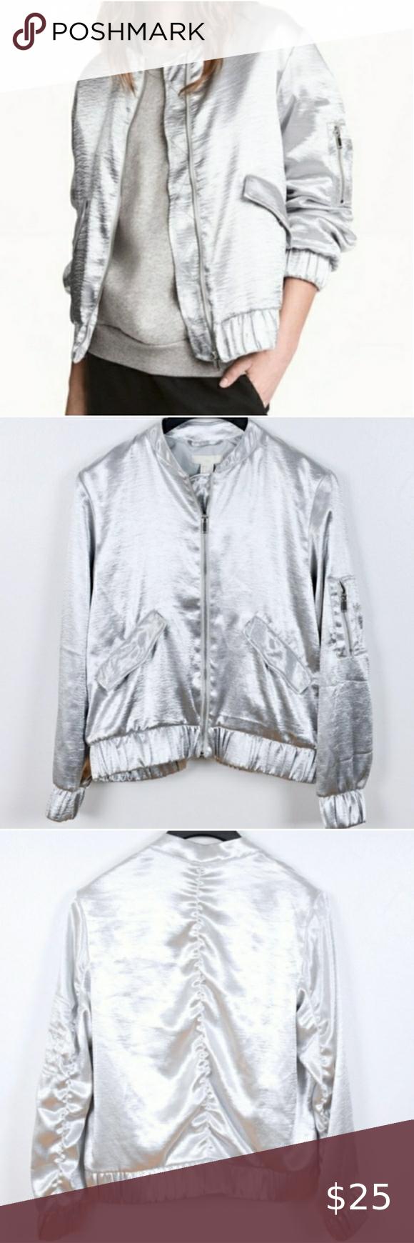 H M Bomber Jacket Satin Bomber Jacket Clothes Design Fashion [ 1740 x 580 Pixel ]