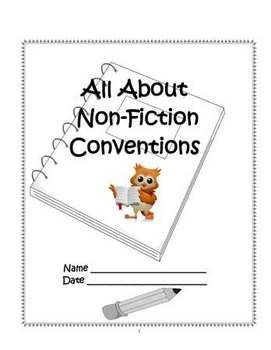 14-page PDF: Non-Fiction Conventions Student Notebook