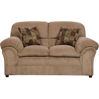 simmons champion tan loveseat with pillows at big lots mom s rh pinterest com Simmons Leather Sofa and Loveseat simmons champion tan sofa