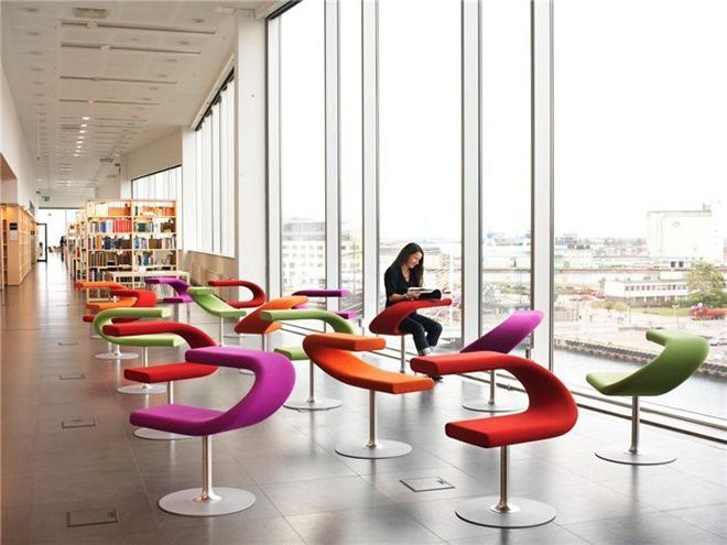 Ways of sitting in public spaces Library design Spaces and