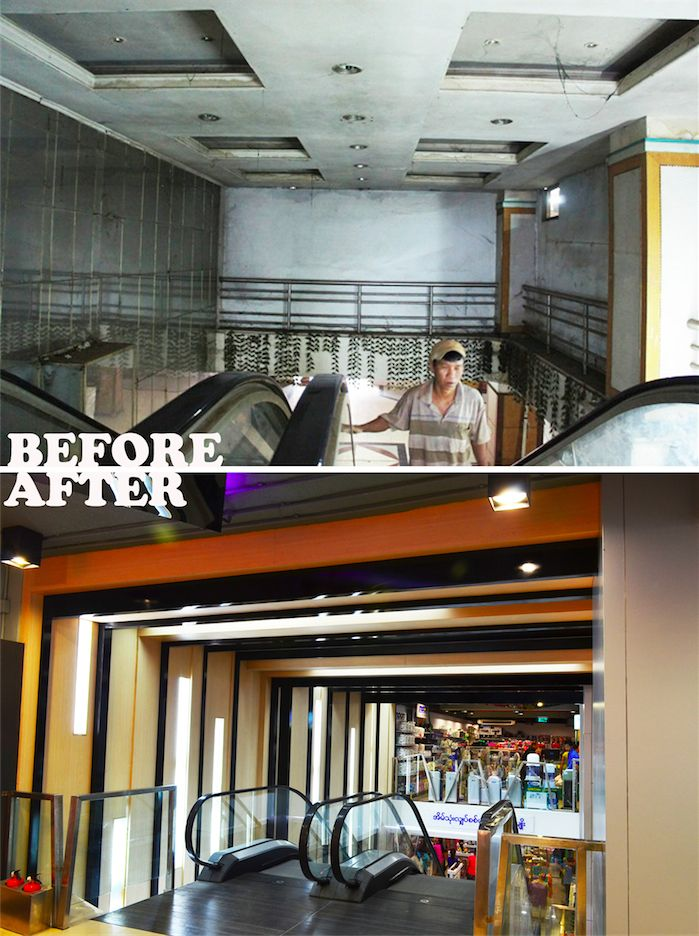 Escalator Hall Renovation Interior Designer MiMD Yangon Architect Shopping