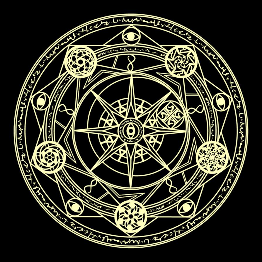 With A Golden Glow Art Techniques Tutorial Magic Circle Supernatural Symbols