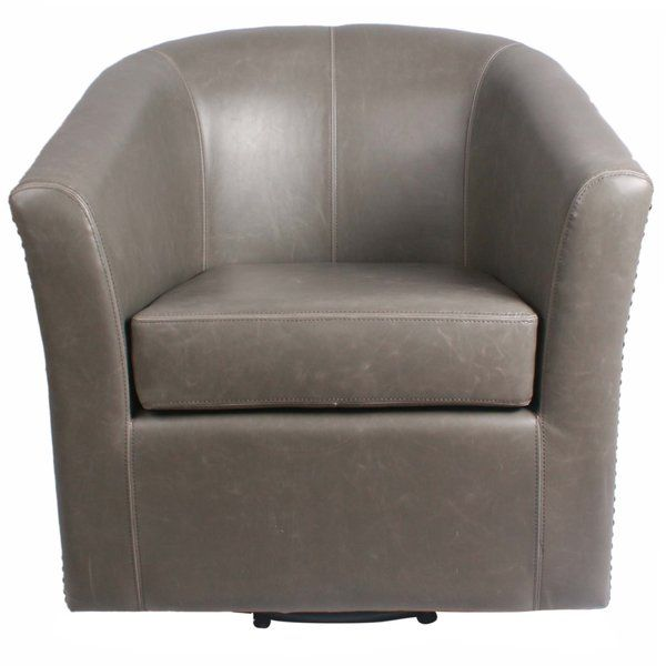 Youu0027ll Love The Ernest Bonded Leather Swivel Barrel Chair At Wayfair    Great Deals On All Furniture Products With Free Shipping On Most Stuff, ...