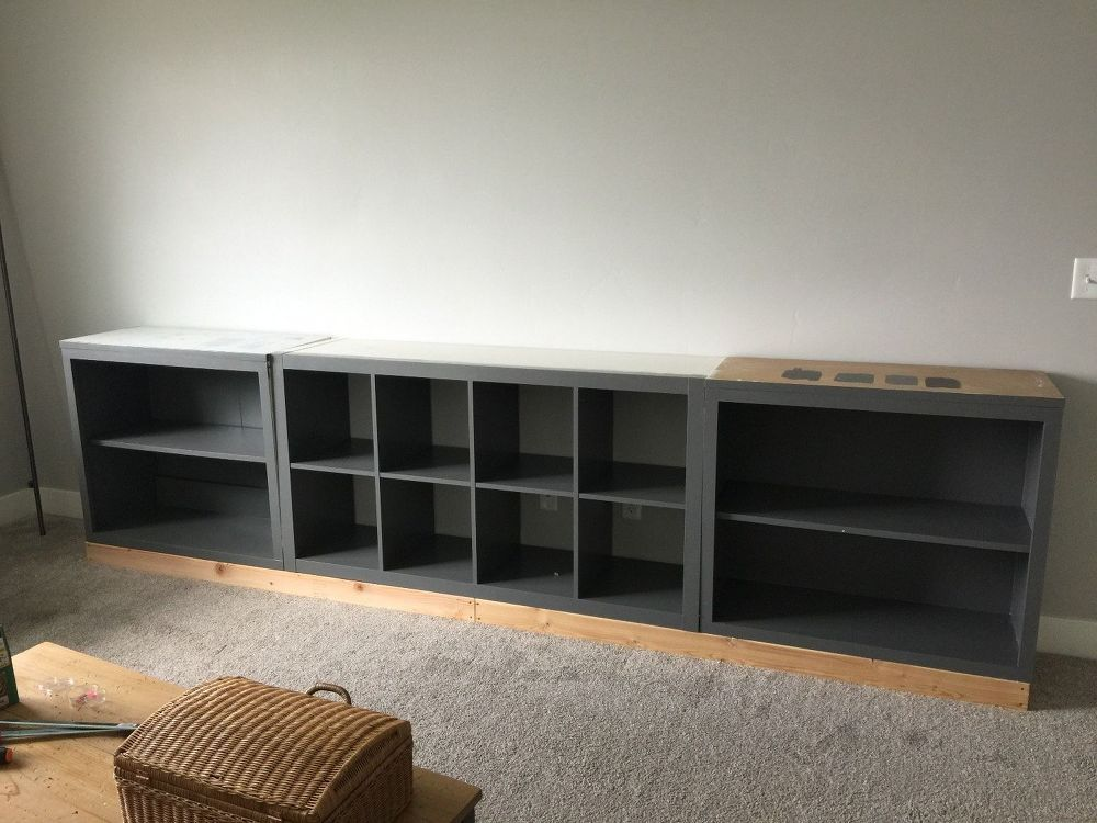 IKEA Hack EXPEDIT Into Media Unit in 2019 Painting ikea