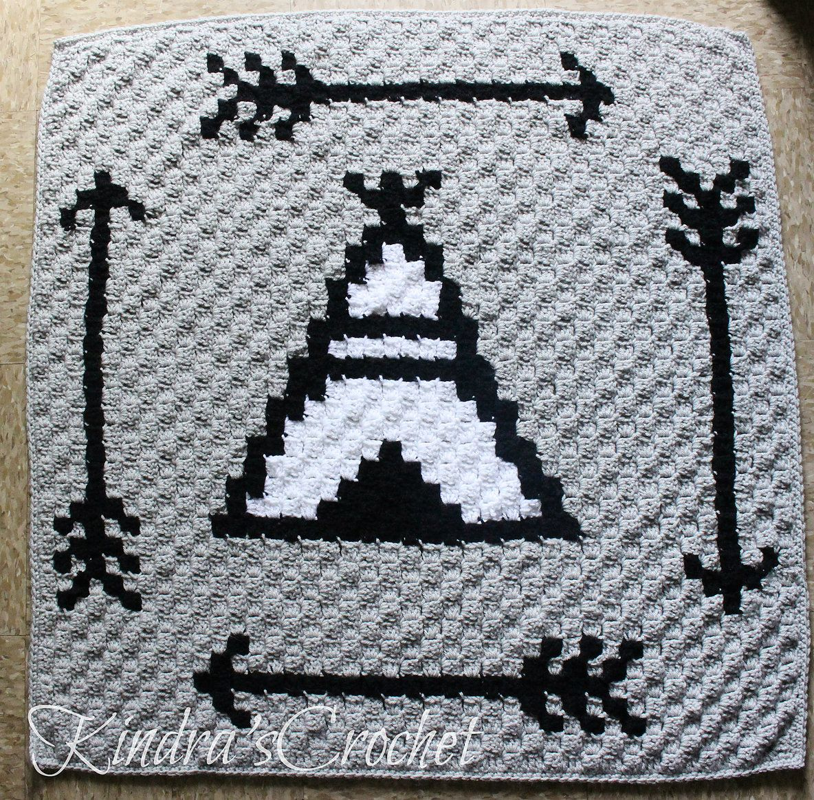 C2C TeePee and Arrows Baby Blanket | Crocheting | Pinterest