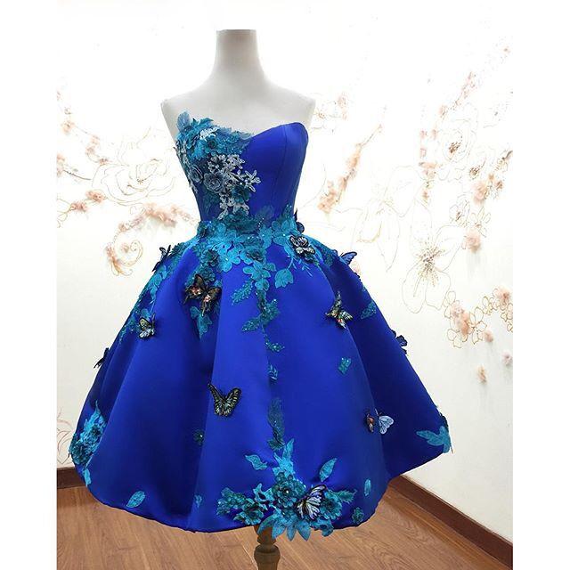 azure butterfly short gown •  provocatebymeltatan. • azure butterfly short  gown •  provocatebymeltatan Elegant Dresses 9106ef7eb001
