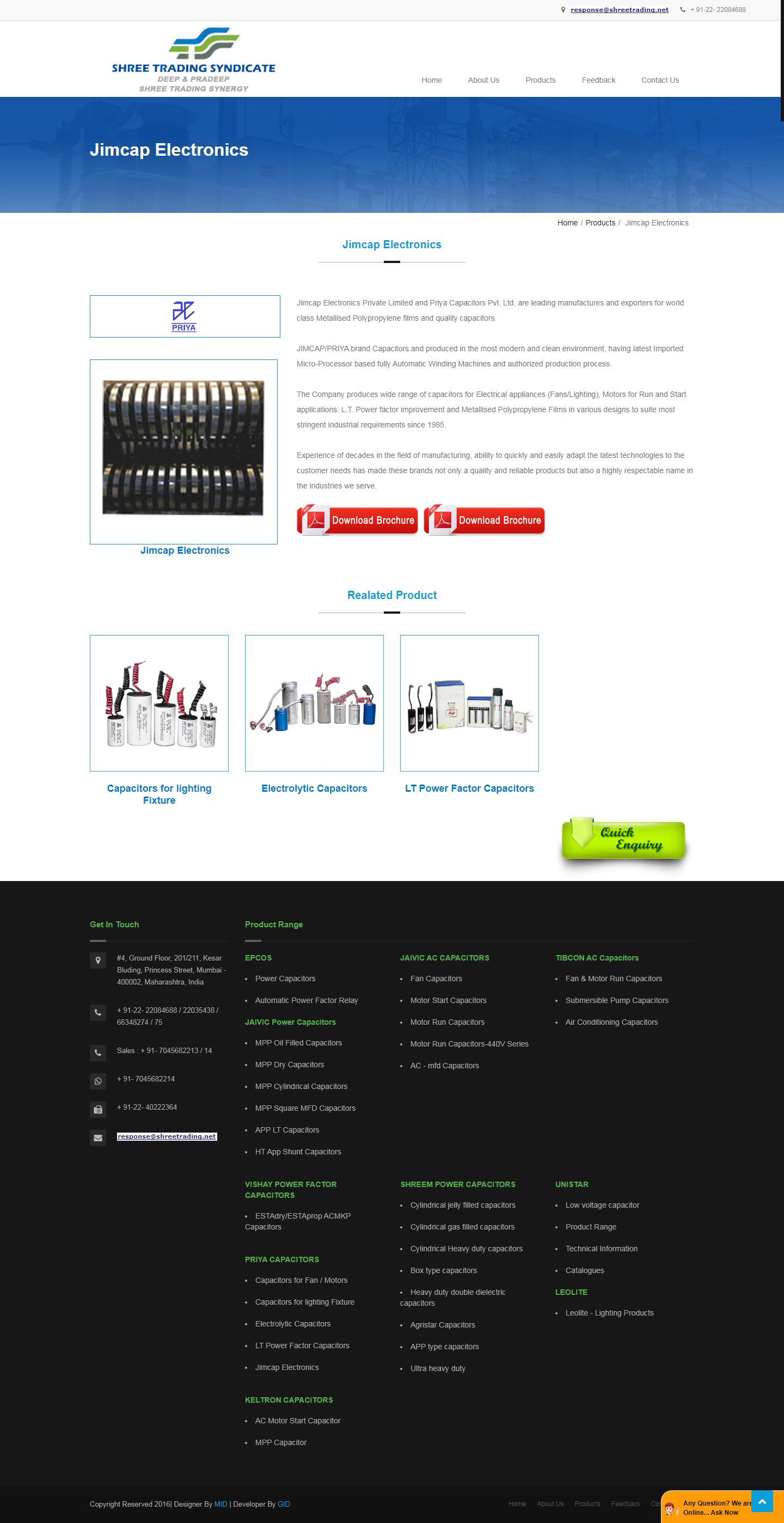 Jimcap Electronics Metallised Polypropylene Films Capacitors Dealer Mumbai India Capacitors Ac Capacitor Capacitor