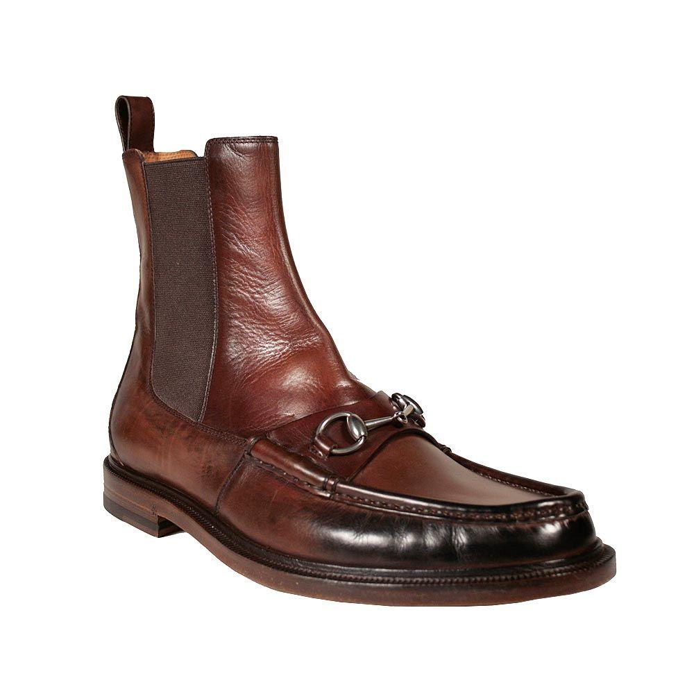 cc2428a3f8f Gucci Men s Shoes Horsebit Moccasin Brown Boots (GGM3000)