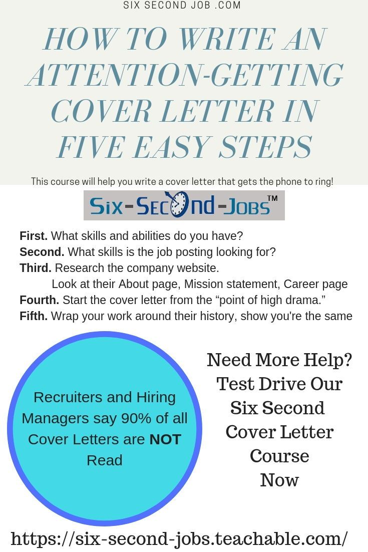 An attentiongetting cover letter gets the phone to ring