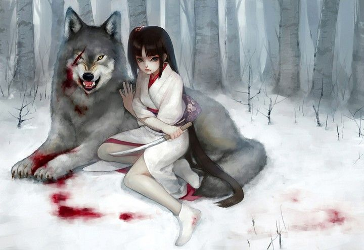 Anime Wolf Girl Snow Winter Game Hd Wallpaper Anime Wolf Girl Anime Wolf Anime Warrior Girl