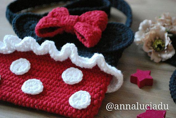 Crochet Minnie mouse, crochet bags, crochet purse, Minnie mouse, bag ...
