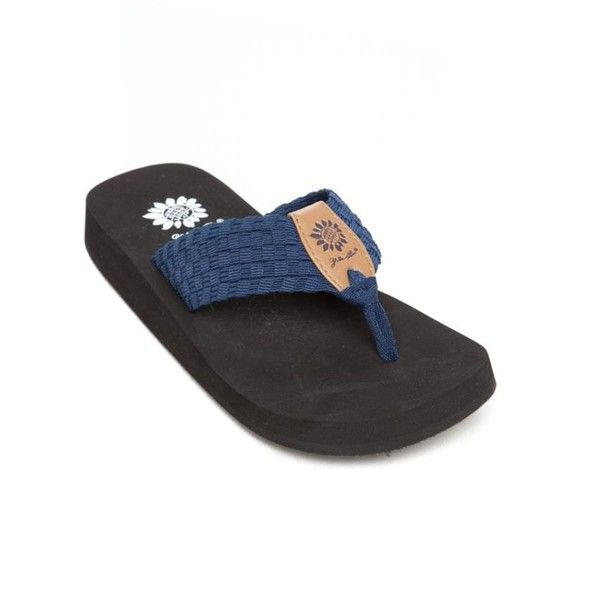d202eb5cf3a Yellow Box Navy Soleil Stretch Flip Flop - Women s ( 20) ❤ liked on Polyvore