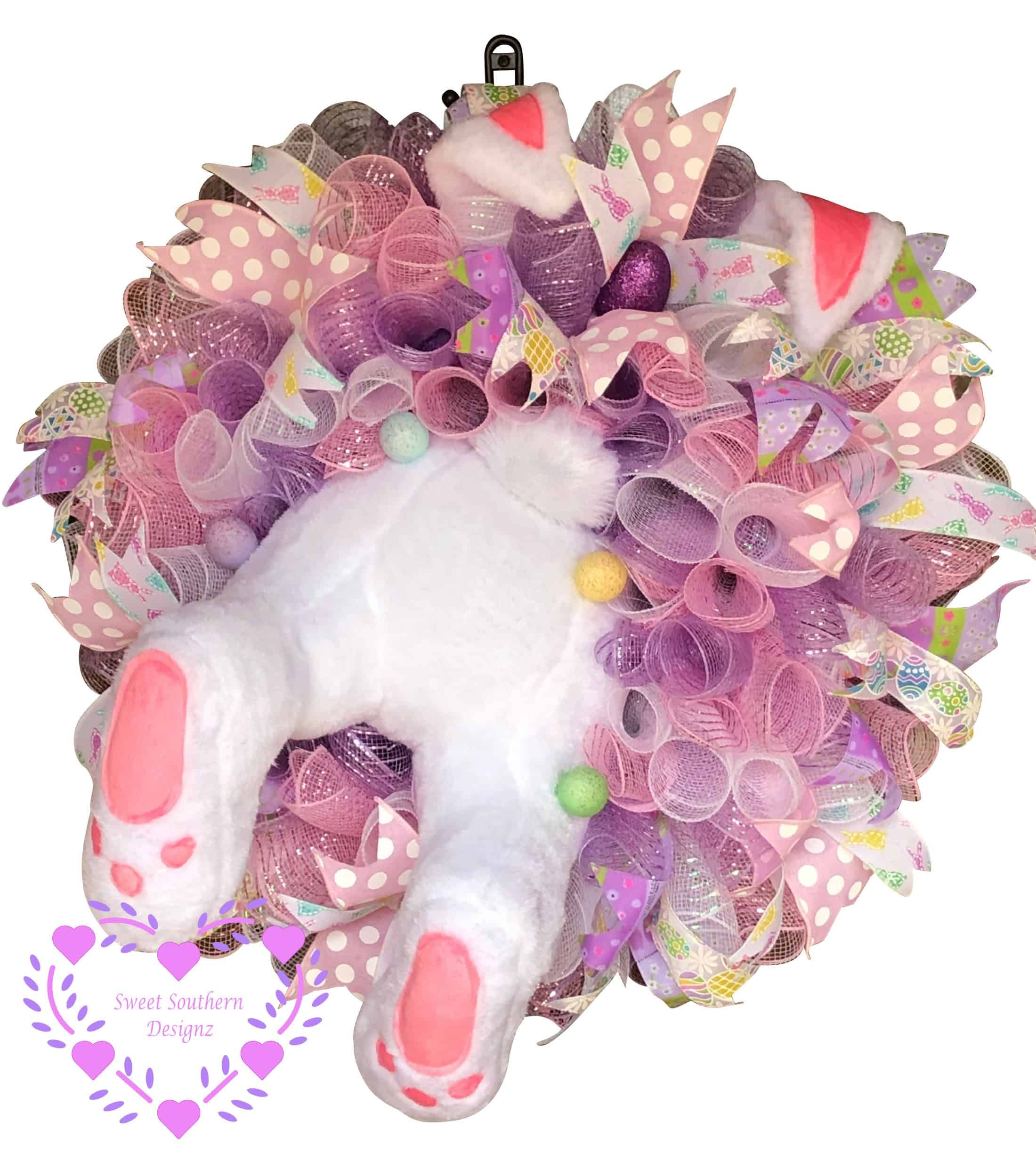 Photo of Easter Bunny Wreath – Sweet Southern Designz