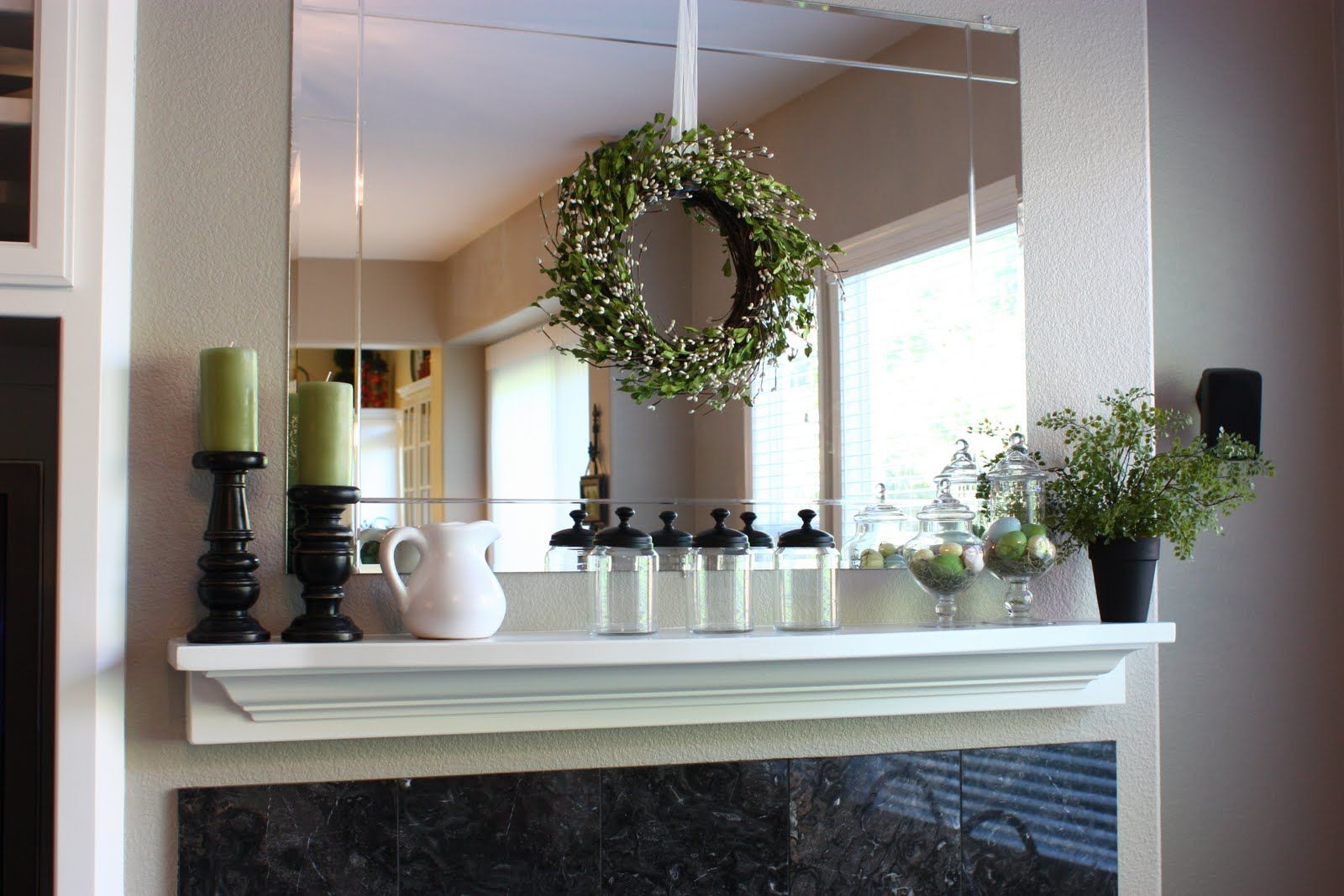 Staging Above The Mantel
