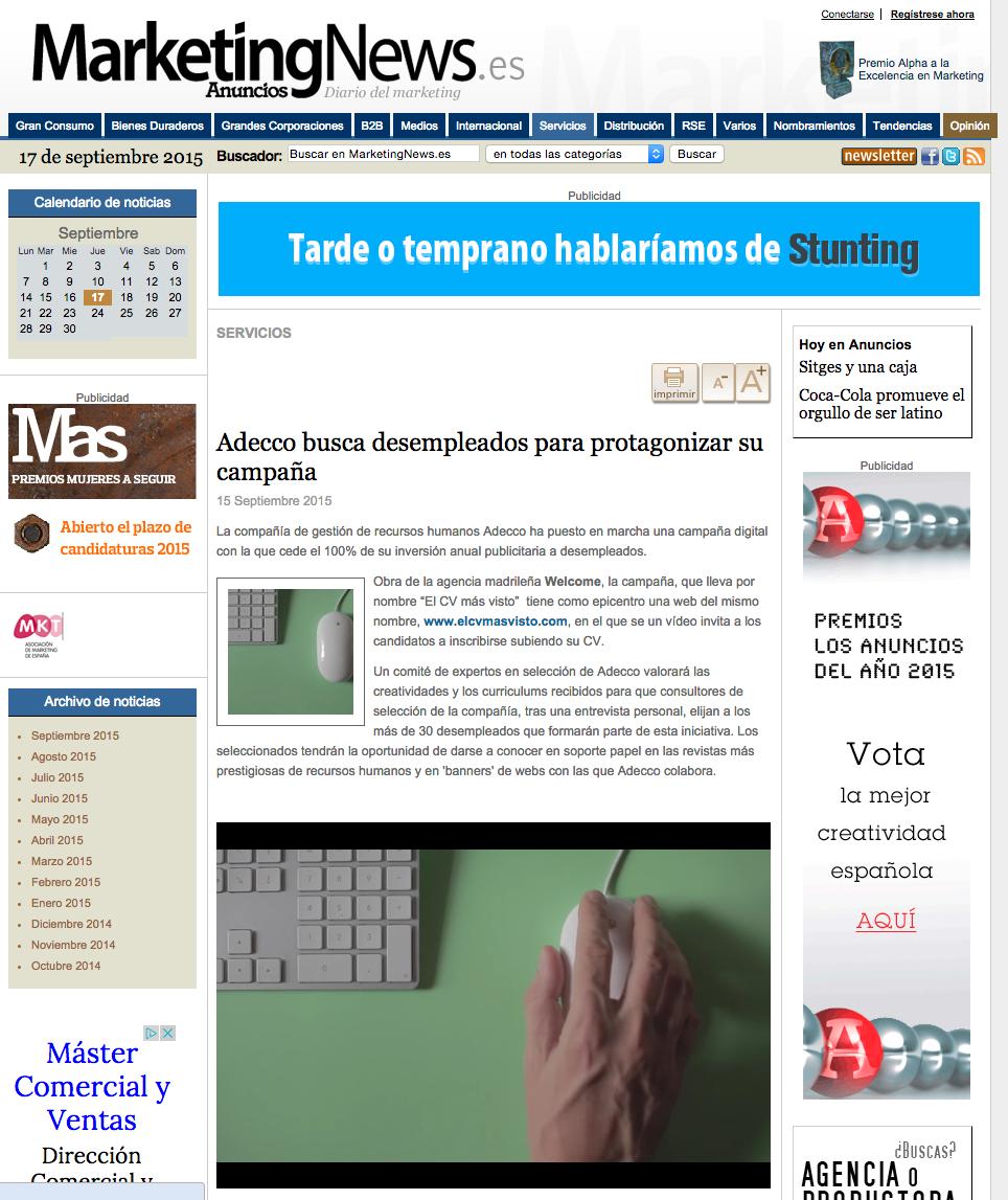 Obra De La Agencia Madrileña Welcome, La Campaña, Que