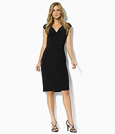 Lauren Ralph Lauren Gathered Empire-Waist Dress | Dillards.com