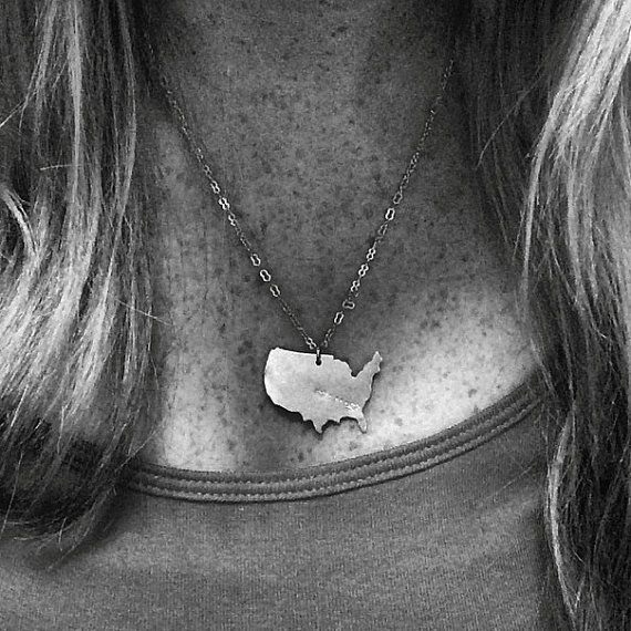 State to State Love Necklace #LongDistance | BootsAndArrows
