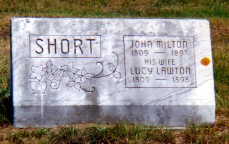 Lucy Lawton Short Buried In Hartland Vt C M O Mckinley 2001 Lawton Hartland Family Genealogy