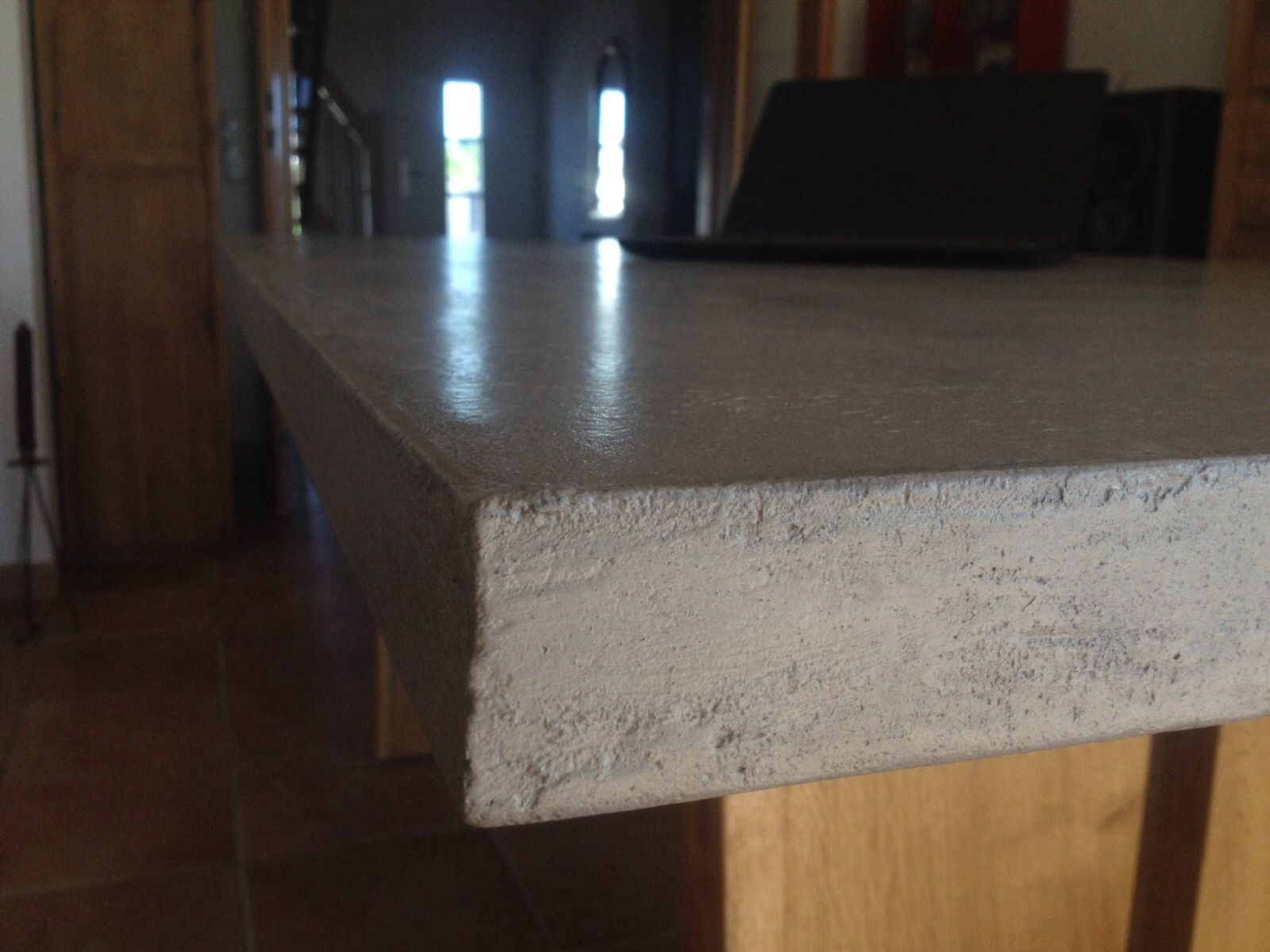 Beton cire tisch table fugenlos esszimmertisch betonoptik bodenbelag betonoptik und beton cire - Esszimmertisch betonoptik ...
