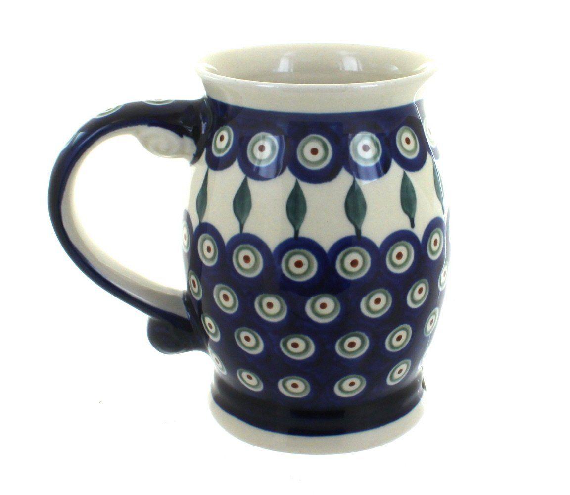 Polish Pottery Peacock Beer Mug *** Awesome product. Click the image at  : bakeware